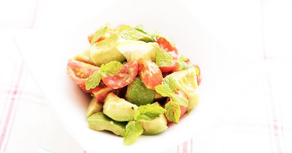 ミニトマトとアボカドのハニーマリネ