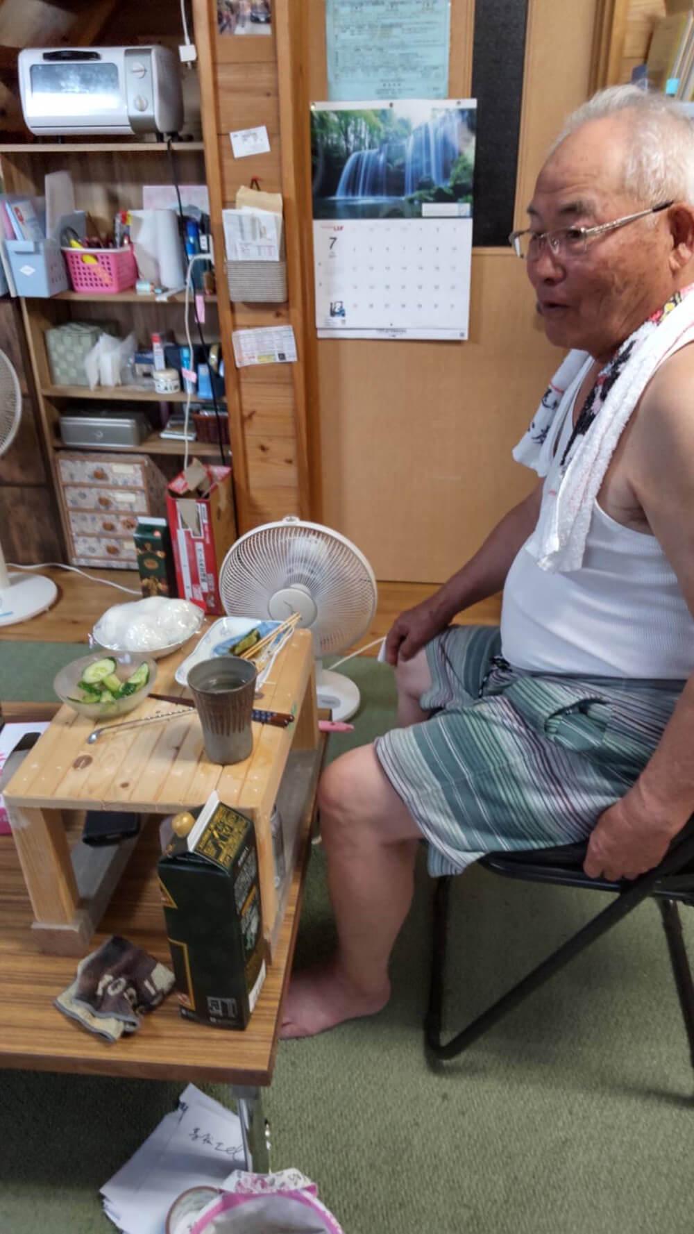 猛暑の北海道からの電話@社長